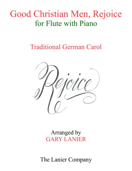 GOOD CHRISTIAN MEN, REJOICE (Flute with Piano & Score/Part)