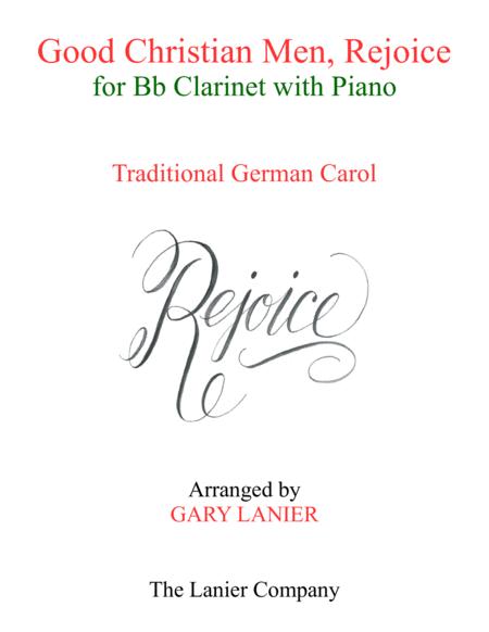 GOOD CHRISTIAN MEN, REJOICE (Bb Clarinet with Piano & Score/Part)