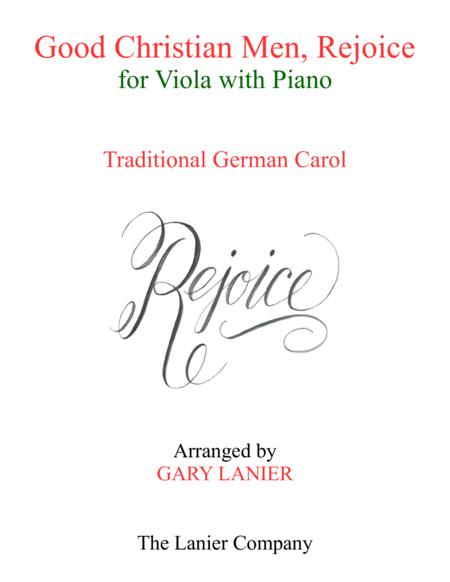GOOD CHRISTIAN MEN, REJOICE (Viola with Piano & Score/Part)