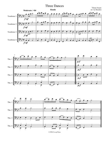 Three Dances for Trombone Quartet