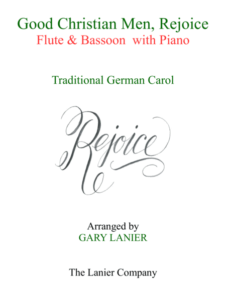GOOD CHRISTIAN MEN, REJOICE (Flute, Bassoon with Piano & Score/Part)