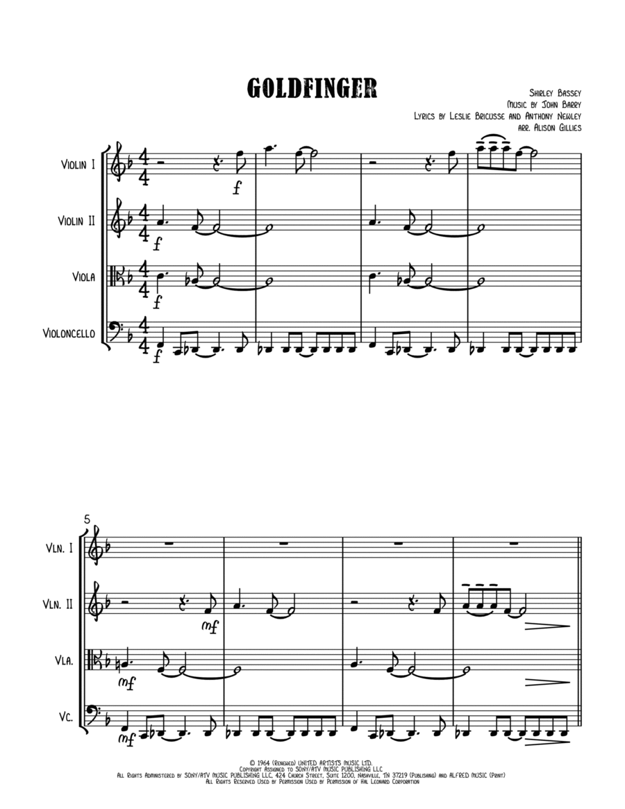 Goldfinger - String Quartet