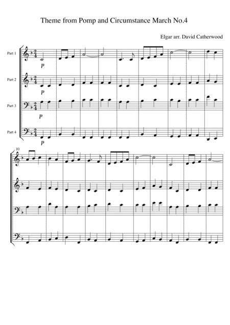 Theme from Pomp and Circumstance  March No. 4 by Elgar