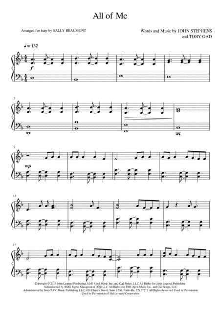 All Of Me - Harp Arrangement