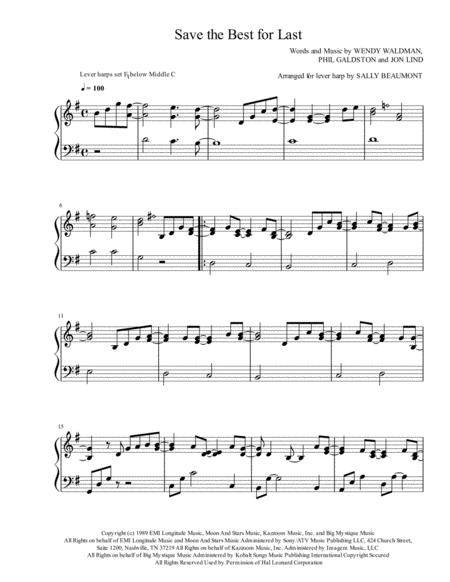 Save The Best For Last - Lever Harp Arrangement