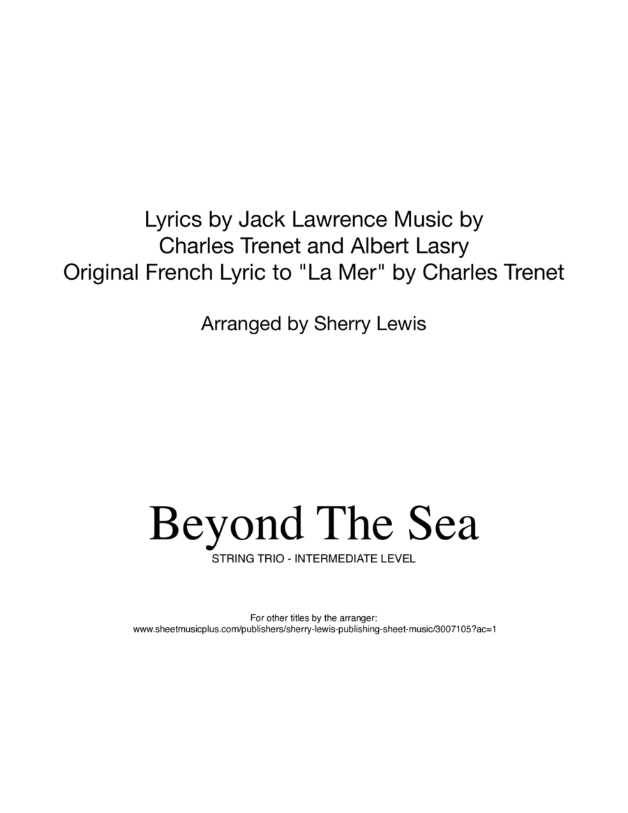Beyond The Sea for STRING TRIO
