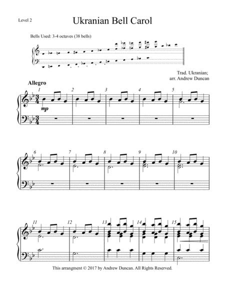 Ukranian Bell Carol - 3-4 oct. handbells, Level 2