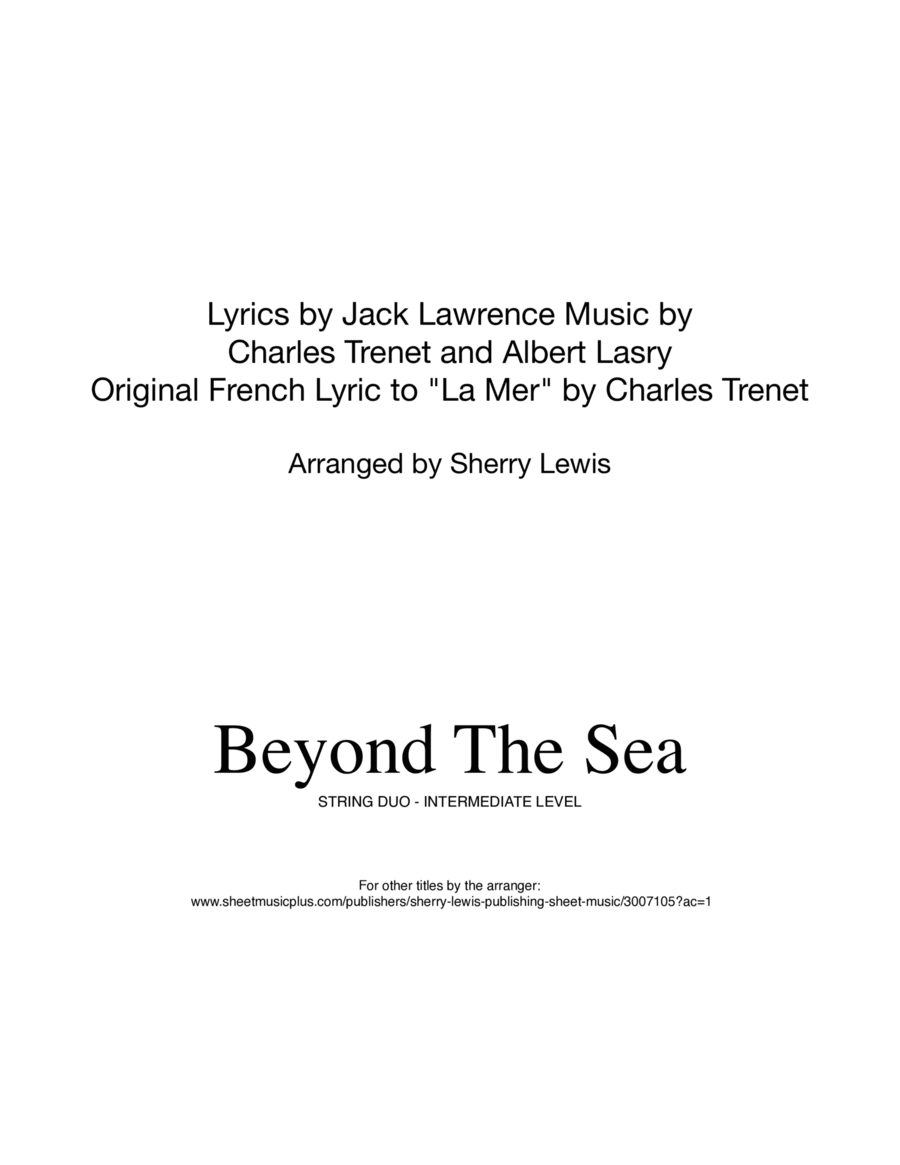 Beyond The Sea STRING DUO