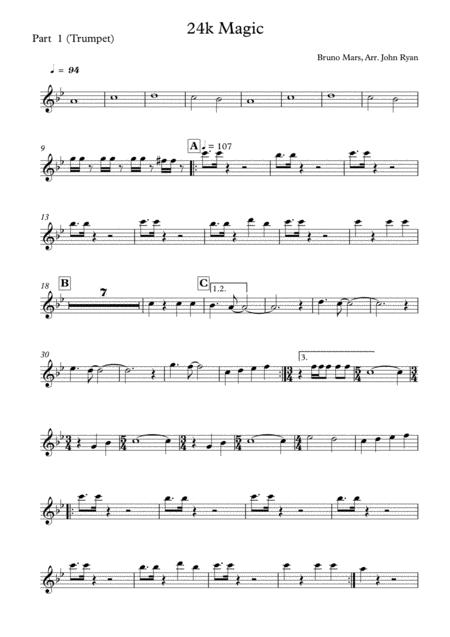24K Magic, Wedding Band Arrangement (Horns + Rhythm)