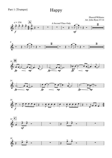 Happy, Wedding Band Arrangement (Horns + Rhythm)