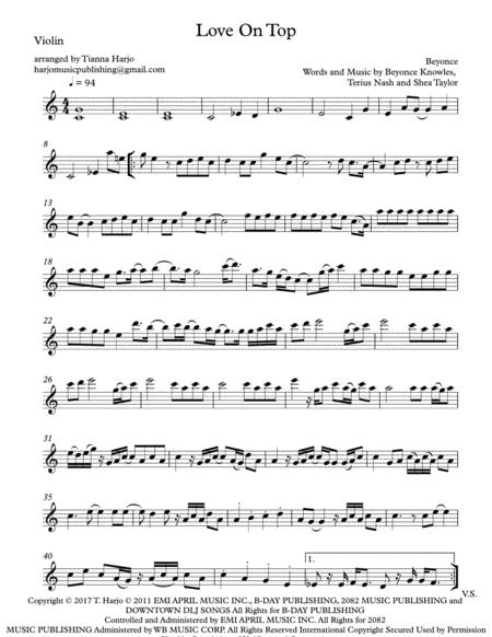 Love On Top - String Trio (violin, viola and cello)