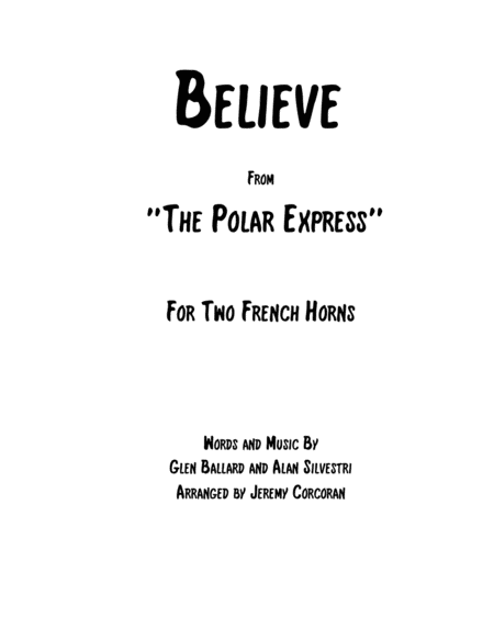Believe for Two French Horns