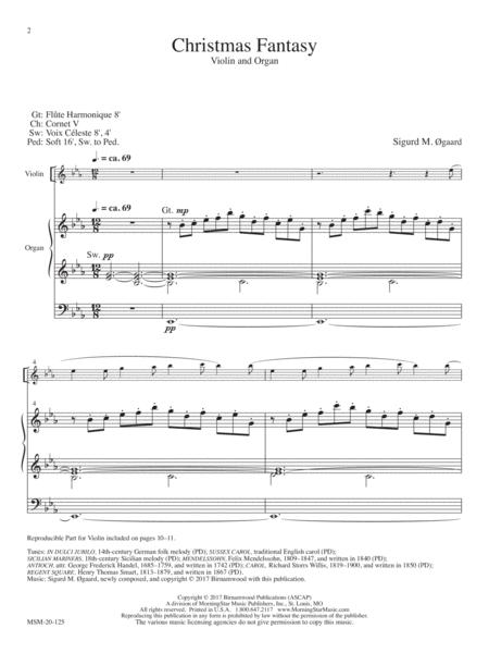 Christmas Fantasy for Violin and Organ