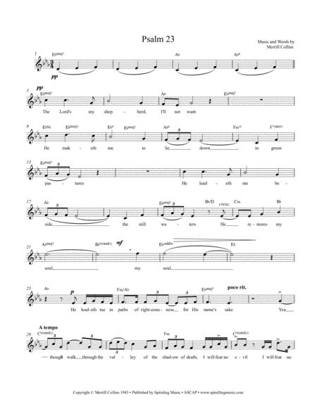 Psalm 23 Eb Lead Sheet - Lead Sheet Eb