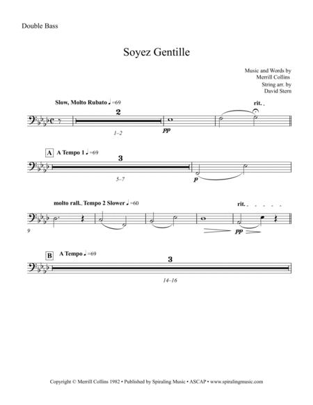 Soyez Gentille in Ab Double Bass