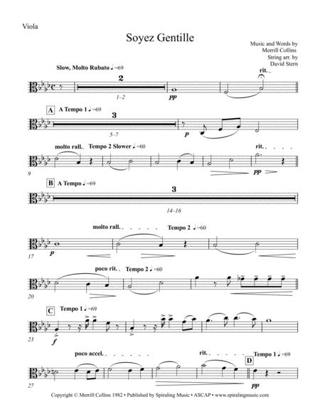 Soyez Gentille in Ab Viola