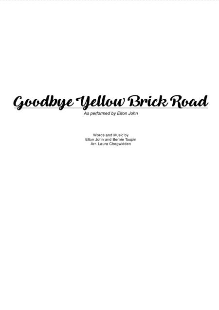 Goodbye Yellow Brick Road for String Quartet