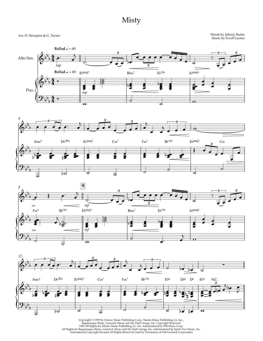Misty for Alto Sax Solo with Piano Accompaniment (Erroll Garner)
