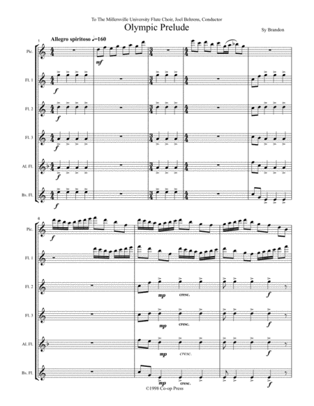 Olympic Prelude for Flute Choir