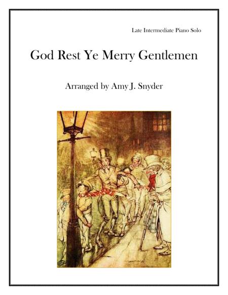 God Rest Ye Merry Gentlemen, piano solo