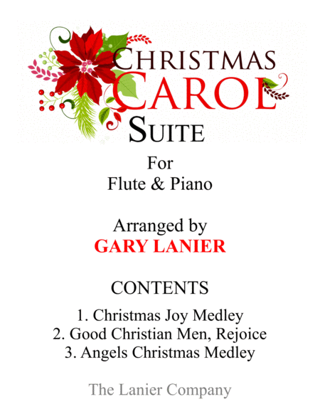 CHRISTMAS CAROL SUITE (Flute and Piano with Score & Parts)