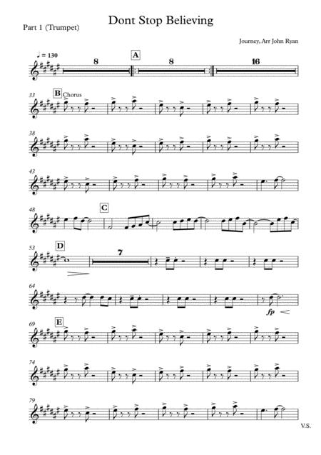 Don't Stop Believin', Wedding Band Arrangement (Horns + Rhythm)