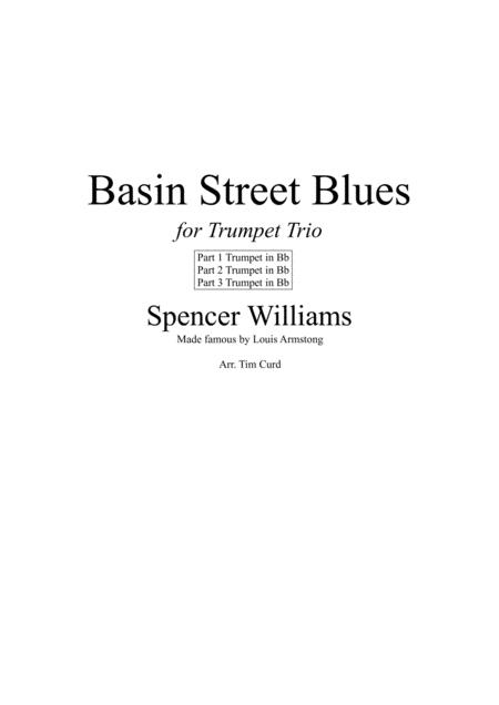 Basin Street Blues. For Trumpet Trio