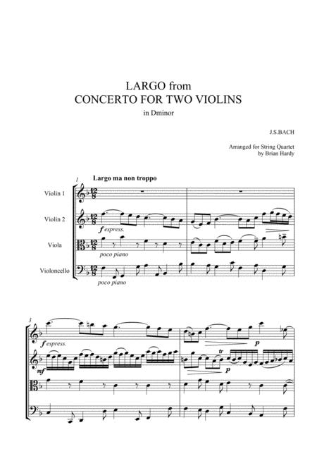 Bach Double Violin Concerto - Largo