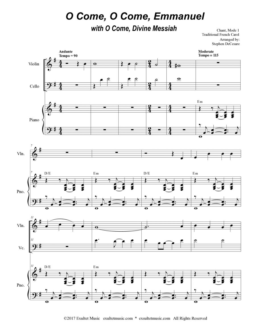 O Come, O Come, Emmanuel with O Come, Divine Messiah (Duet for Violin and Cello)
