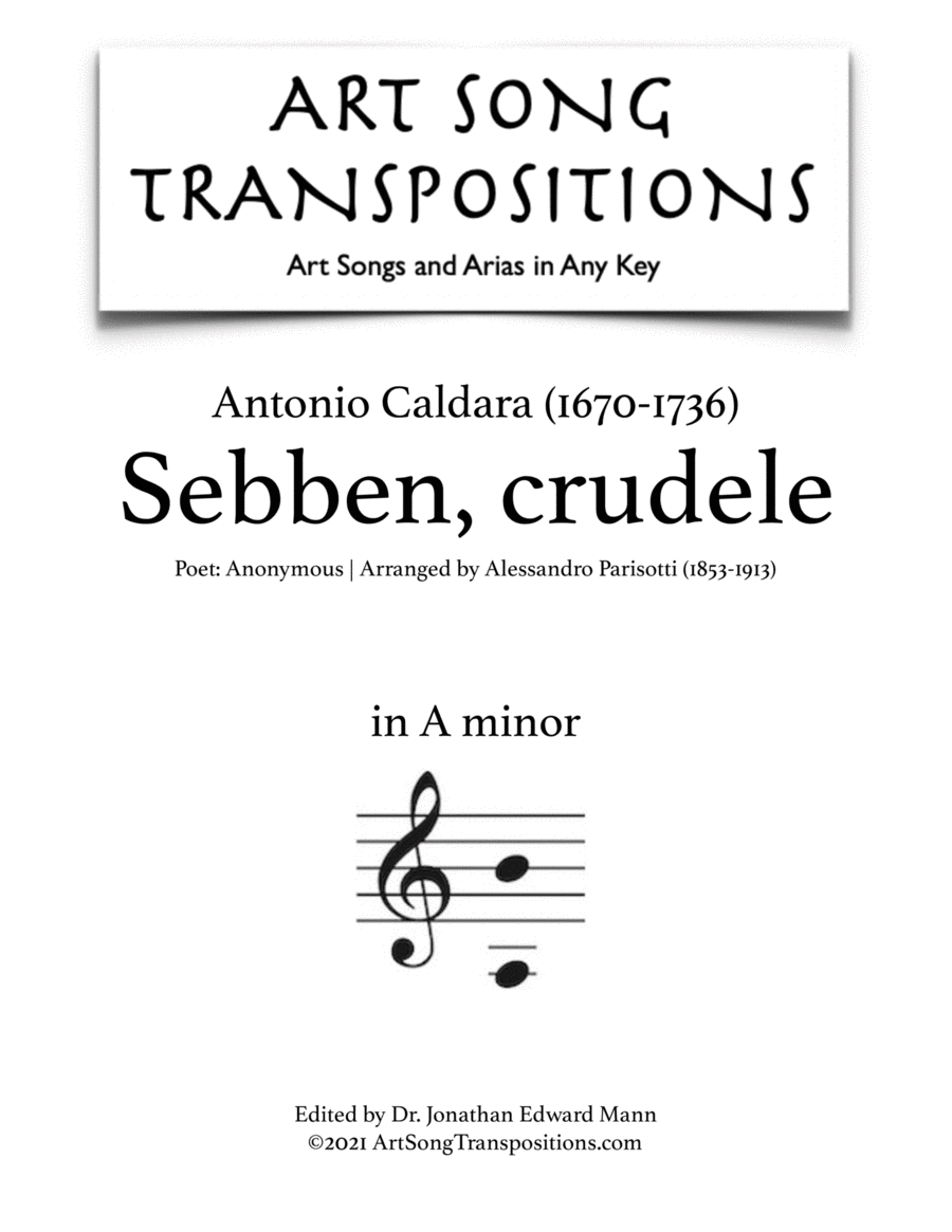 Sebben crudele (A minor)