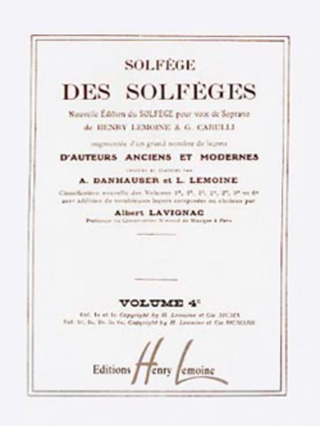 Solfege des Solfeges Vol. 4C sans accompagnement