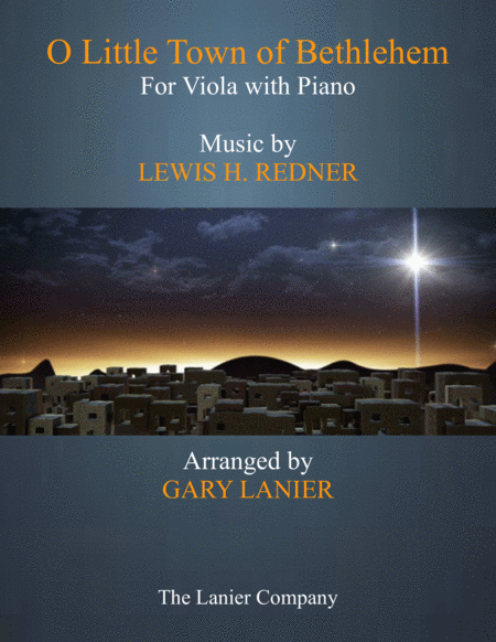 O LITTLE TOWN OF BETHLEHEM (Viola with Piano & Score/Part)