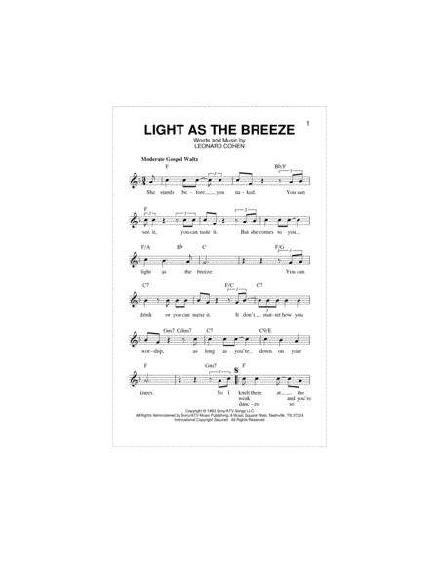 Light As The Breeze