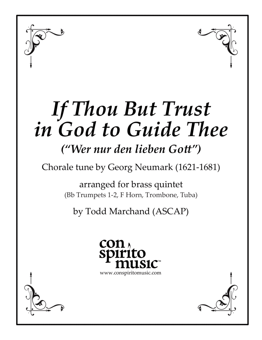 If Thou But Trust in God to Guide Thee - brass quintet