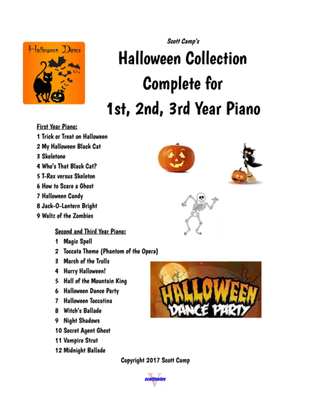 Best Halloween Collection COMPLETE for First, Second (and 3rd) Year Piano