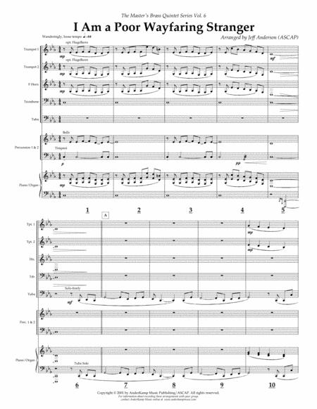 I Am a Poor Wayfaring Stranger for Brass Quintet