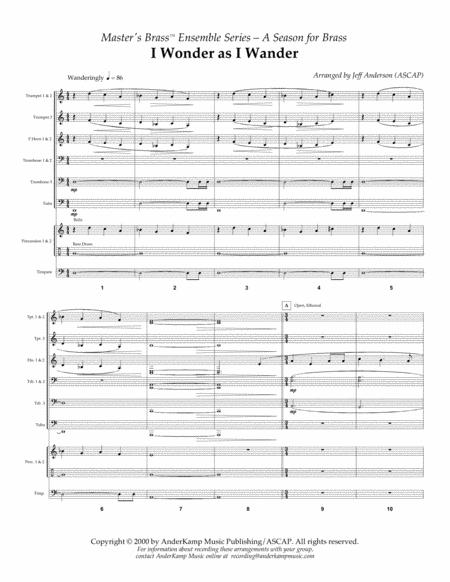 I Wonder As I Wander for Brass Choir/Ensemble