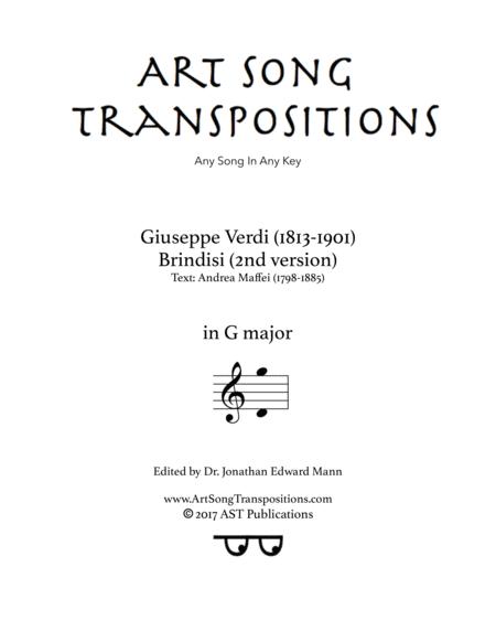 Brindisi (2nd version, G major)