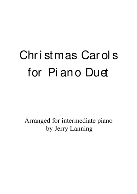 22 Christmas Carols for Piano Duet