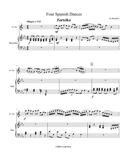 Four Spanish Dances for Alto Saxophone and Marimba