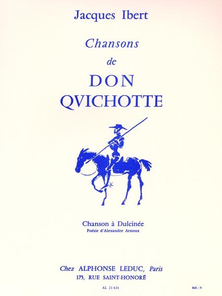 Chansons De Don Quichotte: No.2 Chanson A Dulcinee - Chant Et Piano