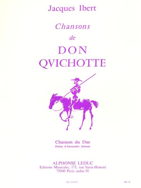 Chansons de Don Quichotte N03:Chanson Du Duc Chant et Piano