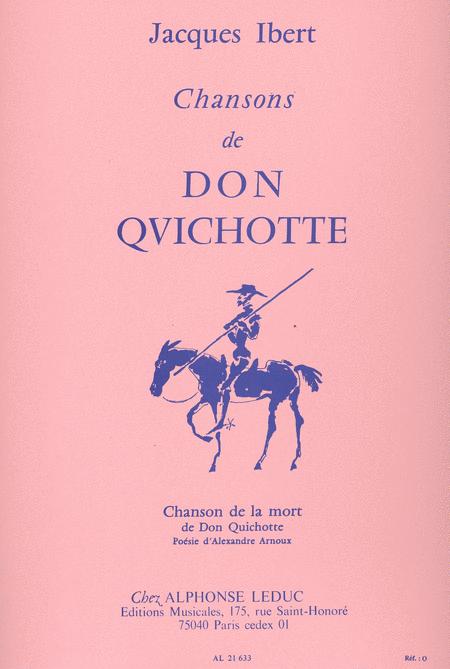 Chansons de Don Quichotte No.4:Chanson de La Mort Chant et Piano