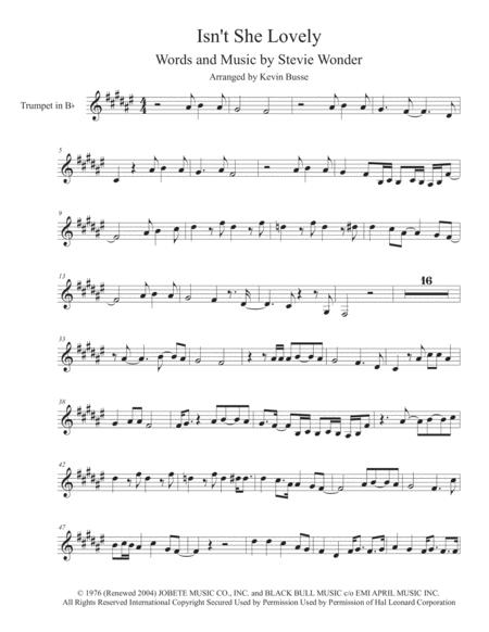 Isn't She Lovely - Trumpet - (Harmonica Solo)