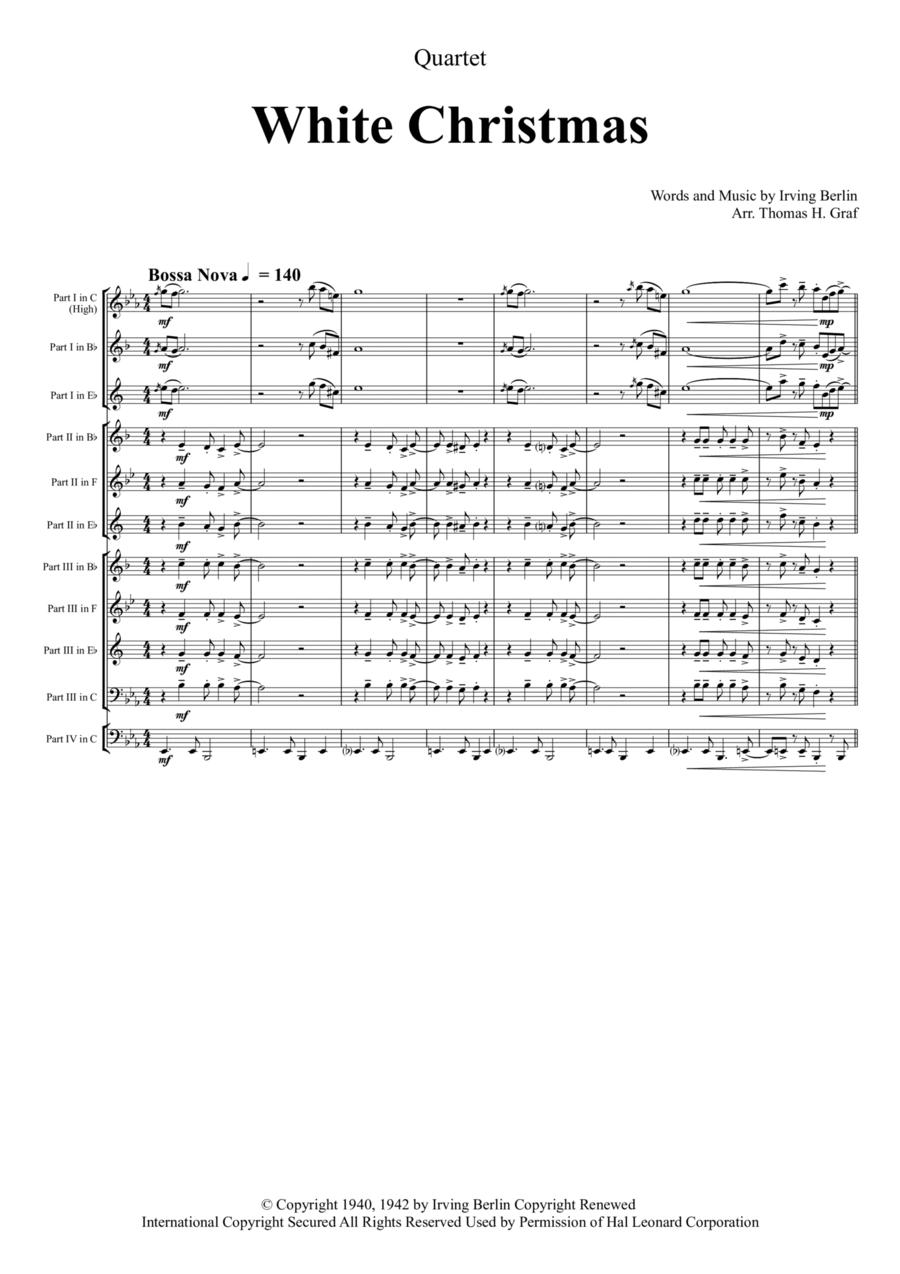 White Christmas - Bossa Nova - Brass Quartet