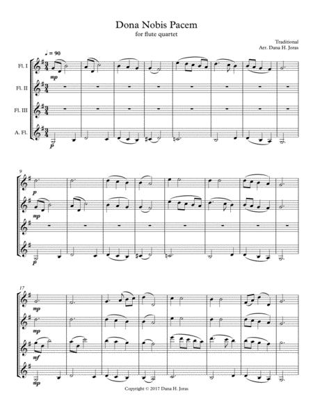Dona Nobis Pacem for Flute Quartet