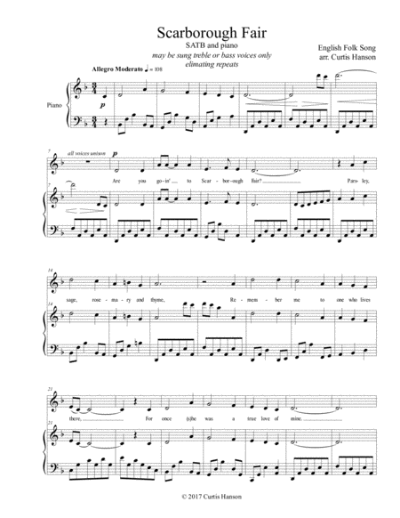 Scarborough Fair (SATB)