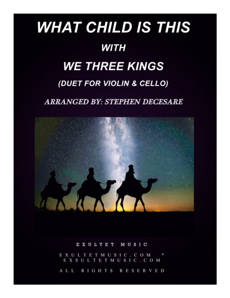 What Child Is This with We Three Kings (Duet for Violin and Cello)