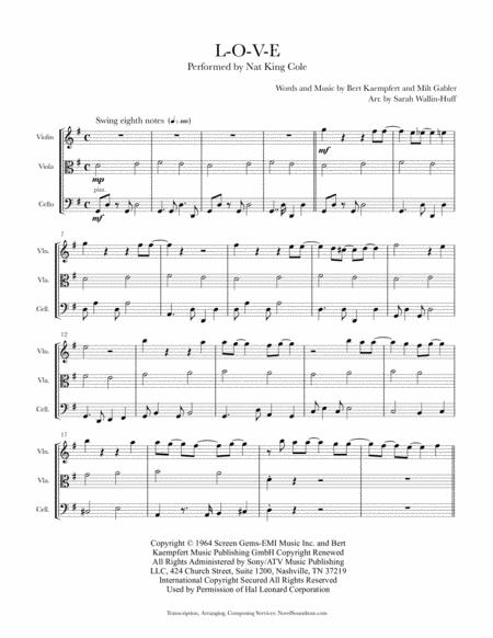 L-O-V-E (for Jazz String Trio)