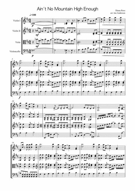 Ain't No Mountain High Enough (String Trio)
